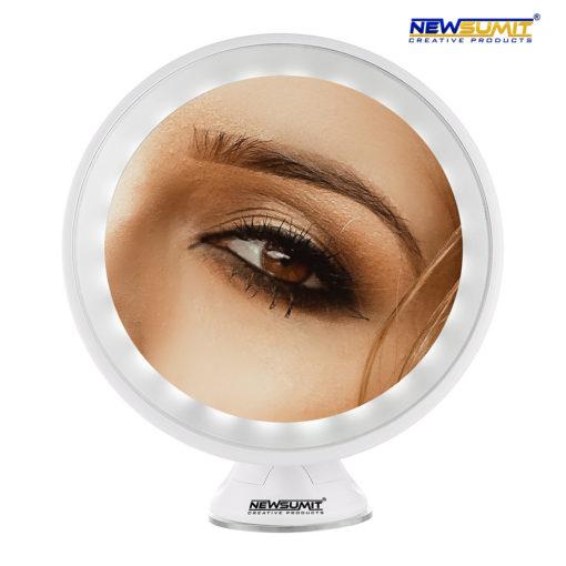 Espejo de Maquillaje Aumento 10X blanco