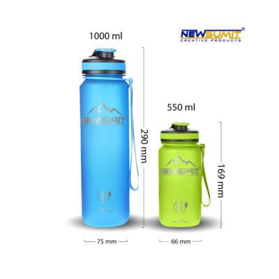 Botellas de agua deportivas shaker – BPA free - 550ml - 4 Colores