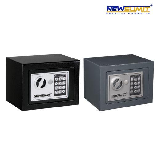 caja fuerte newsumit gris y negro