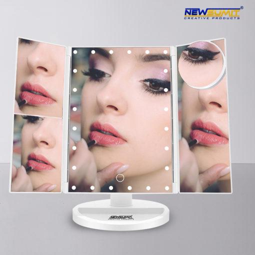 espejo maquillaje newsumit triptico color blanco ejemplo